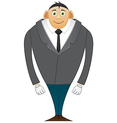 Smile Office man large breasts vector image