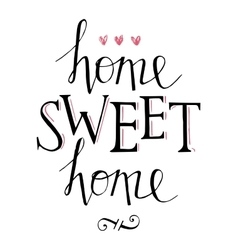 Sweet home hand lettering vector