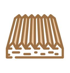 Tactile flooring color icon vector