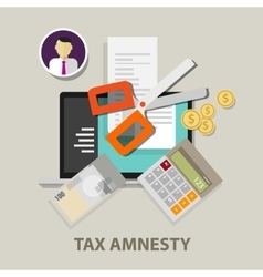 Tax amnesty scissor government vector image