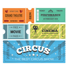 Theater play and cinema circus show isolated vector