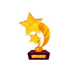 two starrs gold award a pedestal golden first vector image