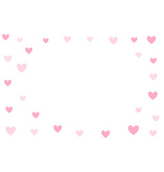 valentines day background holiday white and pink vector image
