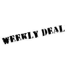 Weekly deal rubber stamp vector