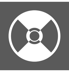 White cd icon vector