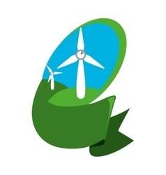 Wind energy green alternative vector