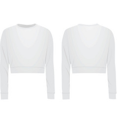 Women white crop sweater vector
