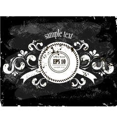 beautiful floral banner on the grunge background vector image
