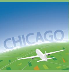 Chicago flight destination vector