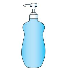 Lotion or cream pump bottle vector