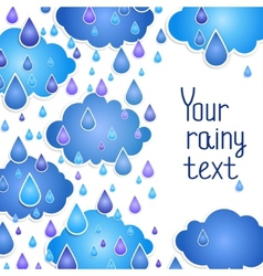 rainy background for your text vector image vector image