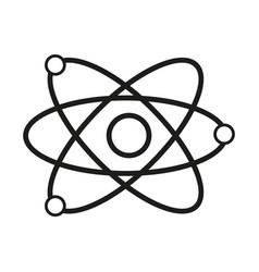 Science model of atom sign vector