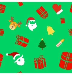 Seamless holiday background with cute Christmas vector image vector image