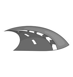Speedway icon black monochrome style vector image vector image