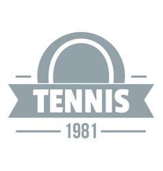 tennis logo simple gray style vector image vector image
