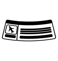 ticket airplane travel line vector image