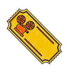 tickets to cinema movie entertainment movie vector image vector image