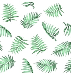 Tropical palm leaves pattern vector