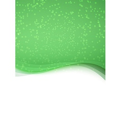 Abstract green particle folder template vector image