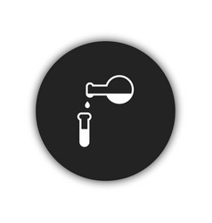 flask icon simple vector image vector image