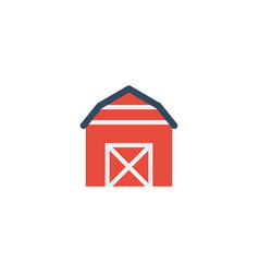 flat icon barn element of vector image
