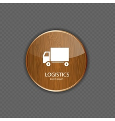 Logistics wood application icons vector image