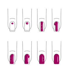 nail care manicure vector image vector image