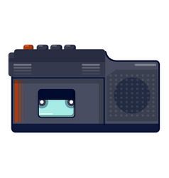 retro dictaphone icon cartoon style vector image