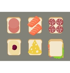 sandwiches vector image