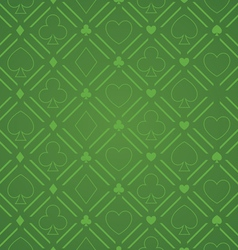Seamless Abstract Poker Pattern Green vector image vector image