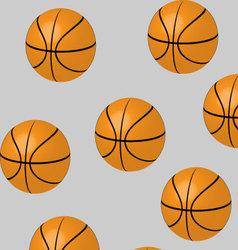 Seamless basketball pattern vector image