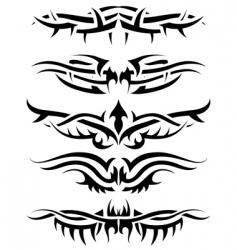 tattoo set vector image vector image