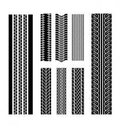 tire patterns vector image vector image