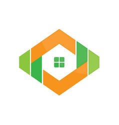 abstract hexagon housing vector image
