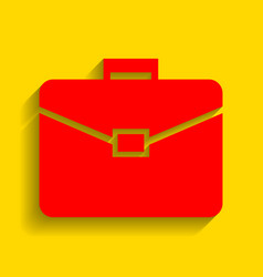 briefcase sign red icon with vector image vector image