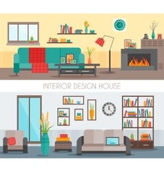 Flat Interior Compositions vector image