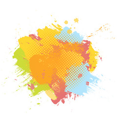 grunge abstract paint brush colorful background vector image