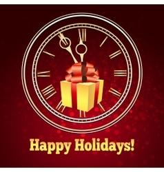 Happy Holidays Theme vector image