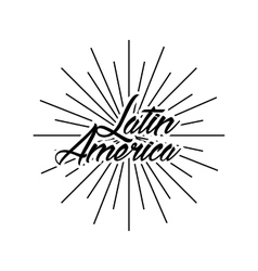 latin america card vector image
