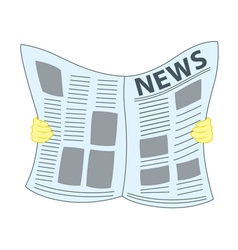 Reading Newspaper vector image vector image
