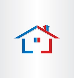 real estate house home icon vector image vector image