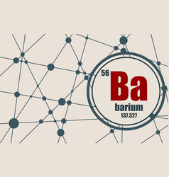 barium chemical element vector image vector image