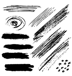 brush strokes vector image vector image