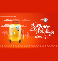 travel bag vacation concept with the bag vector image