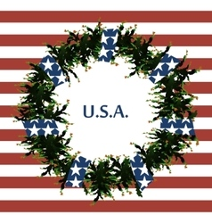 USA flag symbols Abstract background with the vector image vector image