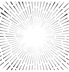abstract circular element radial lines shape vector image