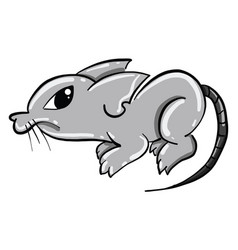 Angry mice on white background vector