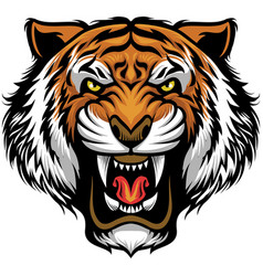 Angry tiger face vector