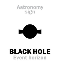 Astrology quasar black hole event horizon vector