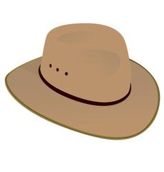 Australian Wide Brim Hat vector image